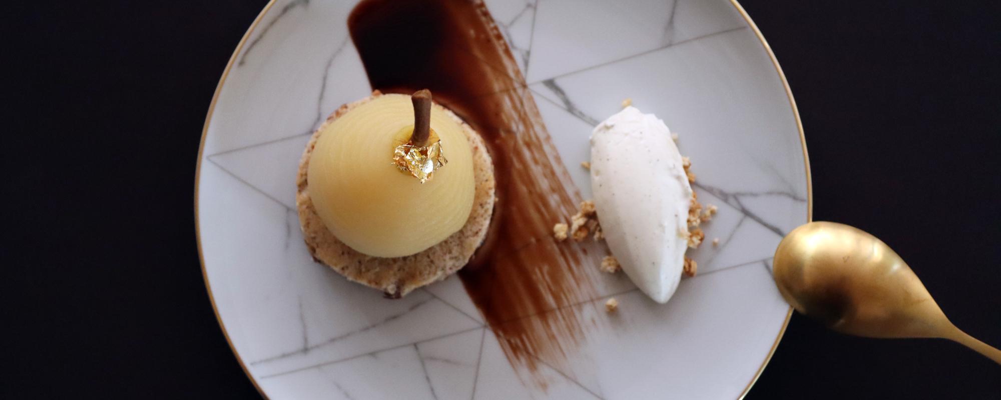 dessert a lassiette